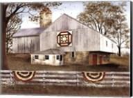 American Star Quilt Block Barn Fine-Art Print