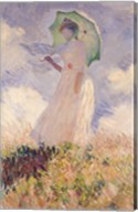 Woman with Parasol turned to the Left, 1886 Fine-Art Print