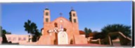 Church in a city, San Miguel Mission, Socorro, New Mexico, USA Fine-Art Print