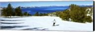 Tourist skiing in a ski resort, Heavenly Mountain Resort, Lake Tahoe, California-Nevada Border, USA Fine-Art Print