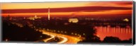 Sunset, Aerial, Washington DC, District Of Columbia, USA Fine-Art Print