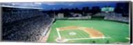 Cubs baseball game under flood lights, USA, Illinois, Chicago Fine-Art Print