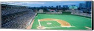High angle view of spectators in a stadium, Wrigley Field, Chicago Cubs, Chicago, Illinois, USA Fine-Art Print