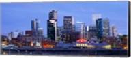 Buildings lit up at dusk, Denver, Colorado Fine-Art Print
