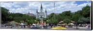 Cathedral at the roadside, St. Louis Cathedral, Jackson Square, French Quarter, New Orleans, Louisiana, USA Fine-Art Print