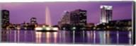 View Of A City Skyline At Night, Orlando, Florida, USA Fine-Art Print
