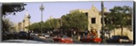 USA, Missouri, Kansas, Country Club Plaza, Traffic on the road Fine-Art Print