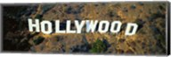 USA, California, Los Angeles, Aerial view of Hollywood Sign at Hollywood Hills Fine-Art Print
