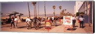 People Walking On The Sidewalk, Venice, Los Angeles, California, USA Fine-Art Print