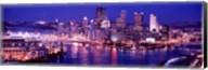 USA, Pennsylvania, Pittsburgh at Dusk Fine-Art Print