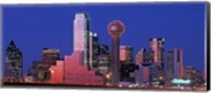 USA, Texas, Dallas, Panoramic view of an urban skyline at night Fine-Art Print