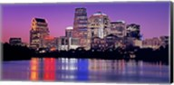 USA, Texas, Austin, View of an urban skyline at night Fine-Art Print