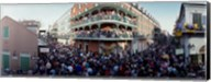 People celebrating Mardi Gras festival, New Orleans, Louisiana, USA Fine-Art Print