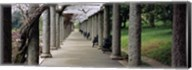 Columns Along A Path In A Garden, Maymont, Richmond, Virginia, USA Fine-Art Print