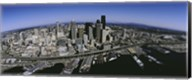 Aerial view of a city, Seattle, Washington State, USA Fine-Art Print