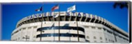 Flags in front of a stadium, Yankee Stadium, New York City Fine-Art Print