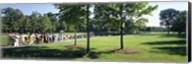 Tourists at a memorial, Vietnam Veterans Memorial, Washington DC, USA Fine-Art Print