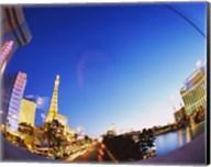 Buildings lit up at dusk, Las Vegas, Nevada Fine-Art Print