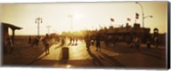 Tourists walking on a boardwalk, Coney Island Boardwalk, Coney Island, Brooklyn, New York City, New York State, USA Fine-Art Print