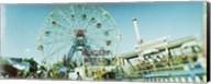 Low angle view of a ferris wheel, Wonder Wheel, Coney Island, Brooklyn, New York City, New York State, USA Fine-Art Print