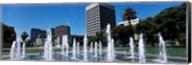 Plaza De Cesar Chavez with Water Fountains, San Jose, California Fine-Art Print