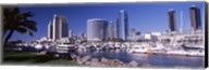 Boats in a Harbor, San Diego, California Fine-Art Print