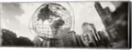 Steel globe, Columbus Circle, Manhattan, New York City, New York State, USA Fine-Art Print