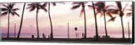 Palm trees on the beach, Waikiki, Honolulu, Oahu, Hawaii Fine-Art Print