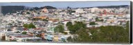 High angle view of colorful houses in a city, Richmond District, Laurel Heights, San Francisco, California, USA Fine-Art Print