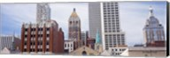 Low angle view of downtown skyline, Tulsa, Oklahoma Fine-Art Print