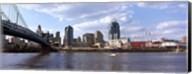 Bridge across the Ohio River, Cincinnati, Hamilton County, Ohio Fine-Art Print