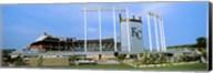 Baseball stadium in a city, Kauffman Stadium, Kansas City, Missouri Fine-Art Print