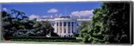 Facade of the government building, White House, Washington DC, USA Fine-Art Print