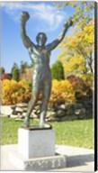 Statue of Rocky Balboa, Philadelphia Museum of Art, Benjamin Franklin Parkway, Fairmount Park, Philadelphia, Pennsylvania, USA Fine-Art Print