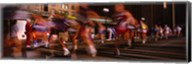 Blurred Motion Of Marathon Runners, Houston, Texas, USA Fine-Art Print