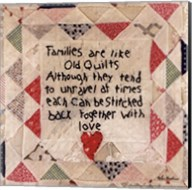 Families are Like Quilts Fine-Art Print