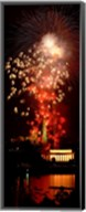 USA, Washington DC, Fireworks over Lincoln Memorial Fine-Art Print
