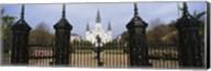 Facade of a church, St. Louis Cathedral, New Orleans, Louisiana, USA Fine-Art Print