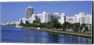 USA, Florida, Miami, Miami Beach, Panoramic view of waterfront and skyline Fine-Art Print