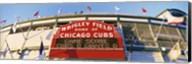 Red score board outside Wrigley Field,USA, Illinois, Chicago Fine-Art Print