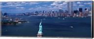 Statue of Liberty with New York City Skyline Fine-Art Print
