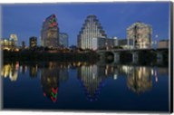 Night view of Town Lake, Austin, Texas Fine-Art Print