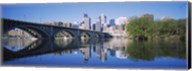 Arch bridge across a river, Minneapolis, Hennepin County, Minnesota, USA Fine-Art Print