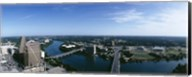 High angle view of a river passing through a city, Austin, Texas, USA Fine-Art Print