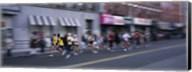 People running in New York City Marathon, Manhattan Avenue, Greenpoint, Brooklyn, New York City, New York State, USA Fine-Art Print