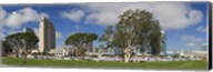 Park in a city, Embarcadero Marina Park, San Diego, California, USA 2010 Fine-Art Print
