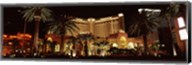 Hotel lit up at night, Monte Carlo Resort And Casino, The Strip, Las Vegas, Nevada, USA Fine-Art Print