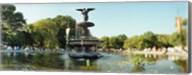 Fountain in a park, Central Park, Manhattan, New York City, New York State, USA Fine-Art Print