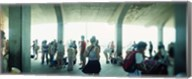 Tourists on a boardwalk, Coney Island, Brooklyn, New York City, New York State, USA Fine-Art Print