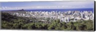 View of Honolulu with the ocean in the background, Oahu, Honolulu County, Hawaii, USA 2010 Fine-Art Print